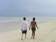 Walking on the Beach (PC060564) (GlobalGoebel) Tags: love beach topv111 walking thailand sand phi phiphi walk lovers ko holdinghands interracial holdhands