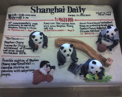 farewell cake (schav) Tags: nyc news cake work dessert newspaper panda shanghai headlines farewell ap
