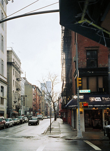 Sullivan Street, New York City, March 2001.