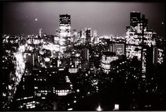 Tokyo Black (velco) Tags: bw japan skyline tokyo 1600 om2n zuiko50mmf14 fujipr