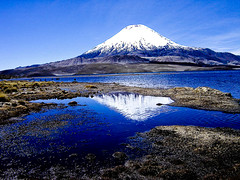 Chungara (Simple photograph by seb) Tags: chile blue paisajes lago interesting perfect photographer sony alpha bec reflexions a100 volcan the blueribbonwinner chungara anawesomeshot aplusphoto superbmasterpiece diamondclassphotographer ysplix colourartaward llovemypic appenninosettentrionalealpinatura