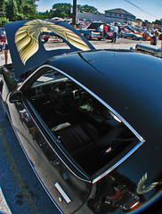 (cw3283) Tags: black cars window antique fisheye vehicles hood antiquecars antiquecarshow highlightandshadow boothscorner