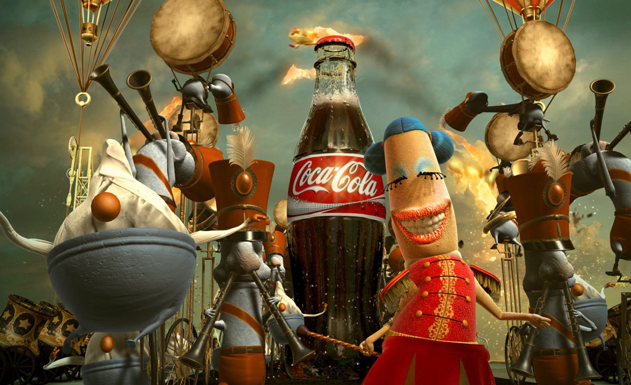 Coca Cola - The Happiness Factory characters by Psyop