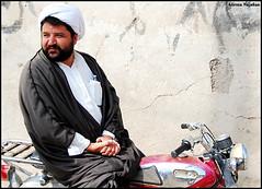 Modern Mullah (alirezanajafian) Tags: bike nikon flickr technology iran muslim islam motorbike motorcycle motor esfahan mullah alireza isfahan 2007 clergy mula clergyman mulah najafian alirezanajafian mulla d80 1855nikkor worldphotodoc2007 upcoming:event=235013 badrood baadrood baadroud badroud