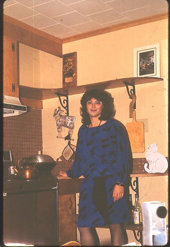 Marge in new Kitchen 1983
