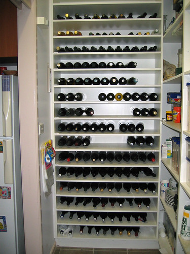 photo of donna's wine rack, described in detail in this post