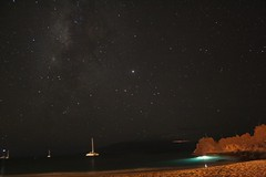 Galaxies and Stars above Ka'anapali Beach