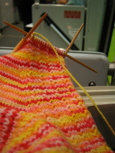 I like... knitting my way to work (1)