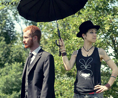 #200 Sunnyfunnyshootings (DayDwam) Tags: hat umbrella ginger tomboy androgynous opale galou mrpan leguman dwam genderfork
