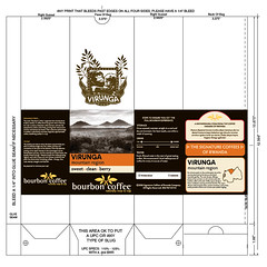 Bourbon Coffee Bag Labels 155