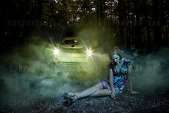 from the series of Emotion/Untold stories (LinEainNi) Tags: portrait color art girl smoke surreal story conceptual narrative platinumphoto