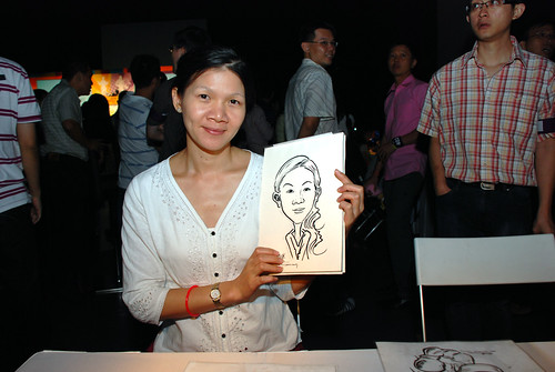 caricature live sketching for SDN First Anniversary Bash - 25