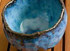 Seigan blue (debunix) Tags: blue cup tea yunomi seigan hagiyaki