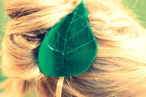 leaf in hair