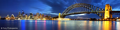Sydney Panorama (-yury-) Tags: longexposure panorama night harbour sydney australia nsw operahouse harbourbridge