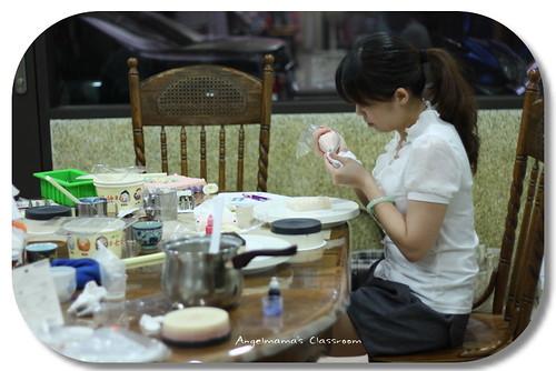 天使媽媽蛋糕皂課程 029