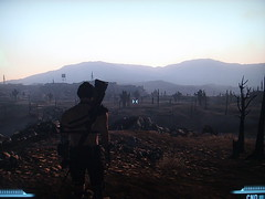 Raider in the wasteland () Tags: camera 3 photo screenshot rifle captured armor playstation wasteland camshot fallout ps3 raider