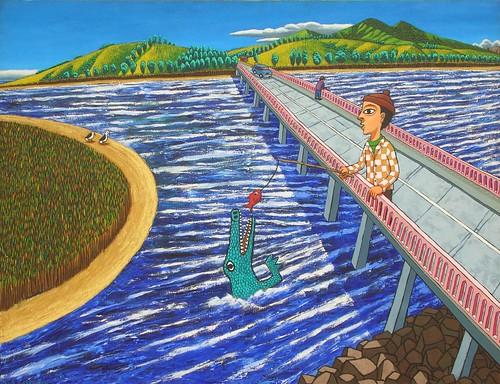 puente sonbre el rio aconcagua
