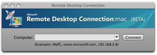 vowe dot net :: Microsoft Remote Desktop Connection Client for Mac