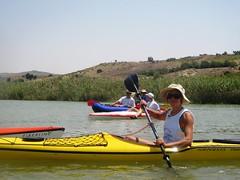 foce del platani in canoa