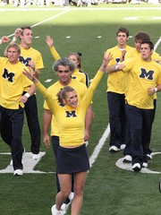 Rah, Rah! (bekahlp) Tags: football annarbor notredame universityofmichigan wolverines collegefootball big10