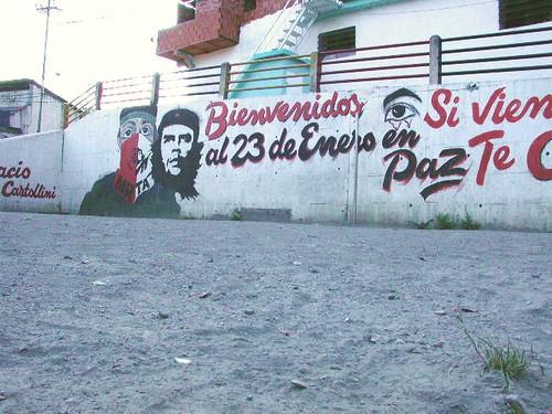 mural tupamaro, barrio 23 de enero, caracas