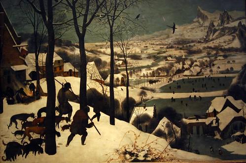 Jäger im Schnee (Winter)