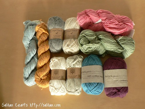 Organic cotton and wool yarn