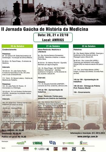 II Jornada                         Gaúcha de História da Medicina por Museu de História da Medicina do RS.