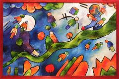 amici (Roberto Valenzano) Tags: quadro amici colori artista quadri espressionismo dipinto astrattismo atrte