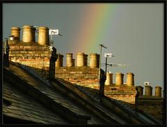 pots of gold (Isisbridge) Tags: street city uk roof chimney england urban english rooftop town rainbow britain pot oxford british jericho sunlit oxfordshire cranhamstreet