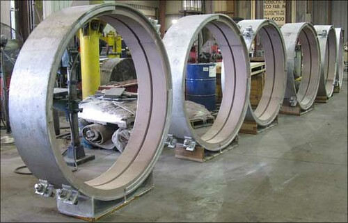 "Sliding Cryogenic Insulated Supports for a 60"" Diameter Vapor Line"