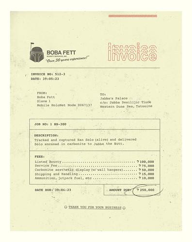 Boba's Invoice