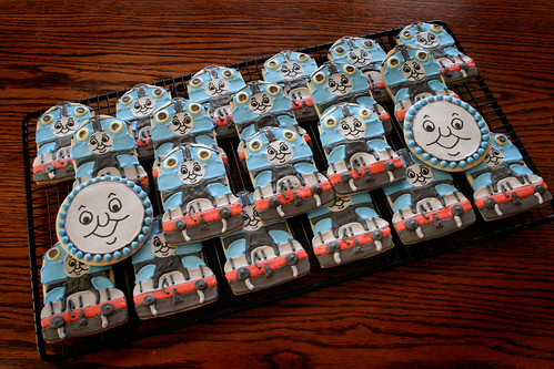 Thomas the Tank Engine cookies for John's 2nd birthday