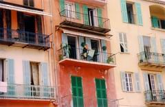 Riviera Slats (Ben Fuego) Tags: windows france architecture 35mm mediterranean doors shutters balconies southoffrance villefranche frenchriviera villefranchesurmer provencealpescotedazur