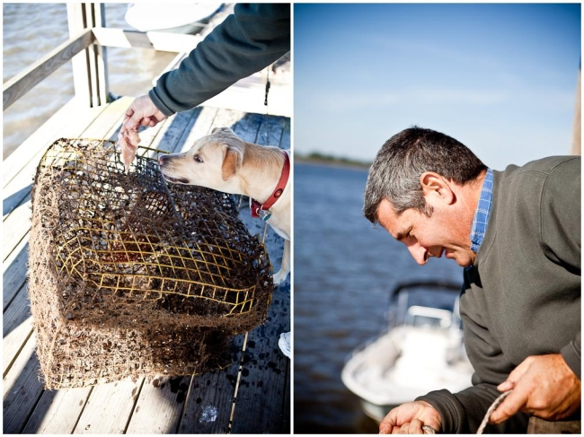 Setting and Lowering Crab Traps