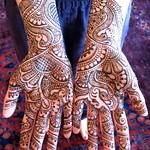 bride's henna'd hands