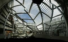 Entrance hall (3) (jepoirrier) Tags: autostitch panorama glass hospital hall belgium belgique pillar entrance belgië chu liège wallonie sunlounge hugin vandenhove