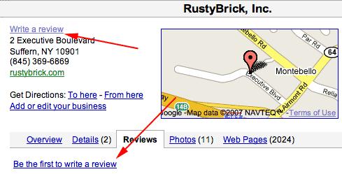 Reseñas de usuarios de Google Maps