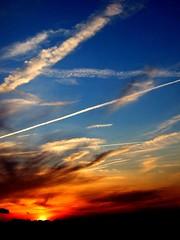 Carry Me Ohio (mikeyexists) Tags: sunset sky orange sun finepix redhousepainters sunkilmoon superbmasterpiece carrymeohio