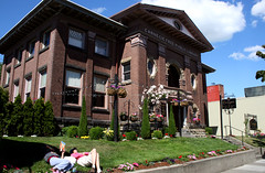 Carnegie's Public Library in Ballard Seattle is now a restaurant.