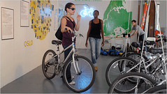 Bicycle sharing project-exhibit in NYC