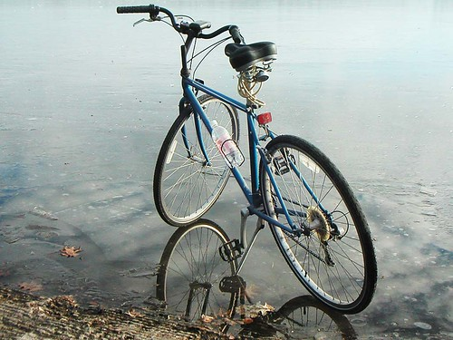 Blue Bike on Ice