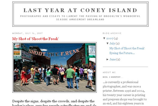Last Year at Coney Island