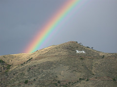 "Colorado School of Mines ""M"" under a Rainbow"