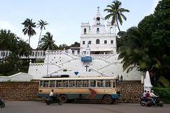 Church and Bus in Panjim