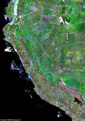 satellite image of Peru