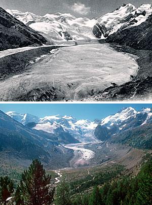 Fonte accélérée des glaciers suisses