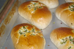 savory buns at the bakery