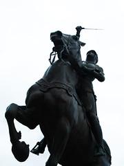 Joan of Arc / la pucelle d'Orléans (Studio Derville) Tags: horse france statue cheval women war femme joan armor jeanne guerre joanofarc blois orléans armure jeannedarc rosarium roseraie pucelledorléans